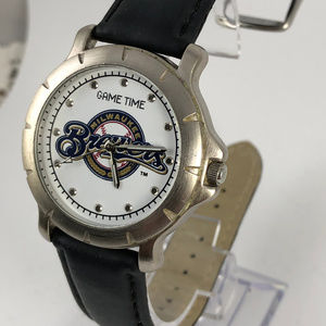 Game Time Accessories - Game Time Brewers Player Series quartz wrist watch